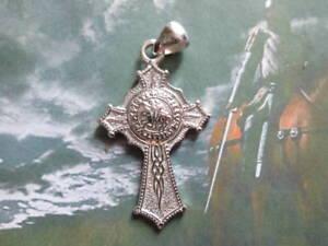 Cavalieri Templari Croce Antico Sigillo in argento 925-produzione artigiana