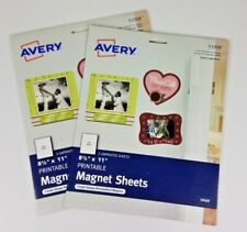 2 Packs Avery 8.5 inch x 11 inch printable inkjet magnetic sheets 53208 Sealed