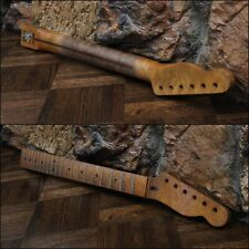 Aged Warmoth Tele Neck Birdseye Maple Nitro Relic Lic Fender Telecaster Fits MJT
