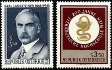 AUSTRIA 1968 VETERINARY & MEDICINE (2 STAMPS)  MNH JUDAICA