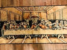 VTG Vintage Last Supper Woven Tapestry Wall Hanging Carpet -  Beautiful