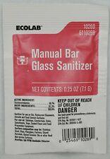 Ecolab 10269 Sanitizer Manual Bar Glass .25 Oz. For Glasses Dishes 93 Packs