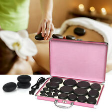 20Pcs Massage Hot Basalt Stone Set For SPA Rock Therapy With Stone Heating Box