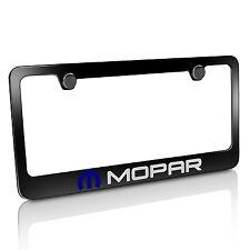 Mopar Black Metal License Plate Frame, Official Licensed, Warranted
