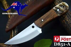 Custom Spring Steel 5160 Hunting Knife, Rams & Walnut Handle,No Damascus (D851-A
