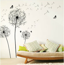 Wandtattoo XL Blume Schmetterling Aufkleber Pusteblume Wohnzimmer Dekoration