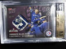 2016 Topps Now #539D Blue Jays Wild Card Win 4/25 Game Used Base 9.5 BGS Card