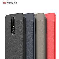 For Nokia 6.1 Plus (Nokia X6) Ultra Thin PU Leather Soft TPU Shockproof Case