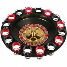 DRINKING ROULETTE PARTY SET SPIN SHOT STAG HEN GAME GLASS GAMES SHOT GLASSES