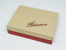 altes Kartenspiel Patience 2 x 55 Blatt kleines Format Mini 45 x 65  Klappbox