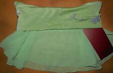 NWT Mirella Ballet Dance Green Skirt Glitter Butterflies Med Child 8-10 MS63C