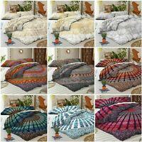 Mandala Duvet Cover Bedding Indian Queen Size Quilt Doona Cover Bed in a bag Set