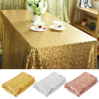 """Rectangle Glitter Sequin Tablecloth Sparkly Table Cover Wedding Party Dec 59x40"""""""