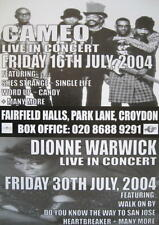 Cameo Dionne Warwick Tourposter concert affiche Croydon Fairfield Hall