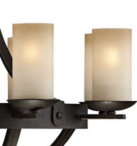 NEW Frosted Glass Shades Cylinder Chandelier Lamp Shades with 1-5/8-Inch Fitter