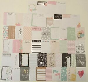 Project Life MODERN WEDDING Edition Partial Core Kit (55) 3x4 Journaling Cards