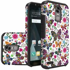 For Lg Stylo 3 Plus Rubber Case Cover  + Tempered Glass Screen Protector