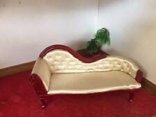 CHAISE LONGUE FOR 12TH SCALE DOLLS HOUSE