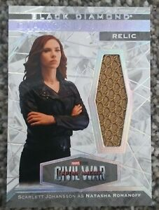 Scarlett Johansson as Natasha Romanoff Shards Relic 2021 UD Marvel Black Diamond