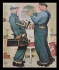 """Norman Rockwell Print With Black Frame Approx 14"""" X 11"""""""