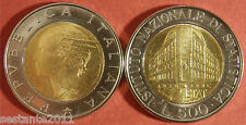 C67  ITALY ITALIA REPUBBLICA 500 LIRE BIMETALLICO  ISTAT 1996 KM 181 FDC UNC