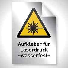 Argent 10 Outdoor laser Copy Autocollant Film a4 297 210 premium professionnel qualité