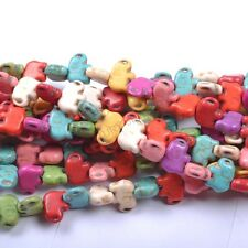 1Strand Turquoise Howlite Spacer Elephant Beads Jewelry Making Charm 20MM #19