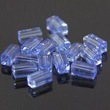 20pcs Swaro/vski  4x4x8mm Cuboid Crystal beads B Light-blue