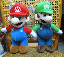 "Super Mario Mario and Luigi brothers 2pc plush toy DOLL 9.8"" HIGH NEW US"