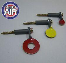 3 METAL SPINNING TARGETS SINGLE STEEL SPINNERS AIR RIFLE GUN SHOOTING PLINIKING