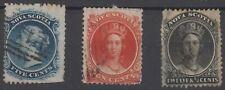 Canada 1860 1863 Nova Scotia LOT OF 3 STAMPS 5¢ - 10¢ - 12½ ¢ Queen Victoria