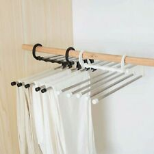 Multi-functional Pants Trousers Rack Shelves Steel Garderobe Magic Hanger Clip