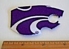 """Kansas State Wildcat 3-1/2"""" Iron on embroidered patch"""