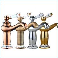 FsAntique Brass Single Handle Hole Durable Basin Faucet Vanity Sink Mixer Tap