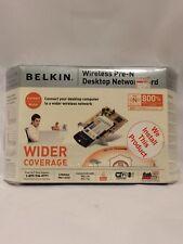 Belkin Wireless Pre-n Desktop Network Card. SEALED