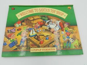 "Vintage Pop-Up Storybook ""Welcome to Santa's Toy Shop"" 1994 Landoll Hardcover"