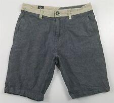 "MINT Volcom Crews 10"" Chino Shorts MENS 30 Heathered Gray Tan 100% Cotton"