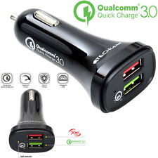 TECHGEAR Quick Charge 3.0 Car Charger 30W Dual USB Port Smart Fast Charging