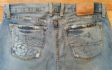 Lucky Brand Jeans Mystic Dream Jean Floral Embroidered Auth Rare! Size 10/30