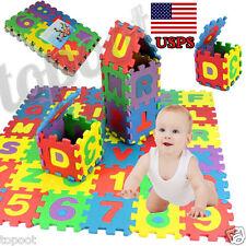 36Pcs Baby Child Study Number Alphabet Puzzle Foam Maths Educational Toys Gift