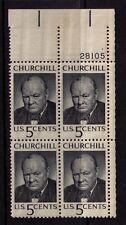 US USA Sc# 1264 MNH FVF PLATE # BLOCK Sir Winston Churchill Great Britain WWII