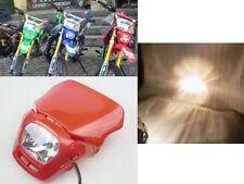 35W Red Off Road Dirt Bike Enduro MX White Motorcycle Headlight for Honda CRF