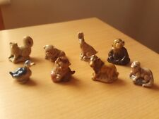 Vintage X8 Wade Whimsies Collection Of Assorted Animal Figurines.