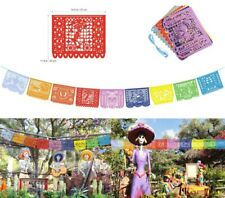 UNOMOR 15ft Papel Picado Banner Mexican Day of the Dead Halloween Party Supplies