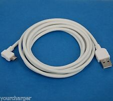 2M 6ft Right Angle Micro USB Cable WHITE for Samsung Galaxy Tab 4 3 10.1 8.0 7.0