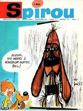 ▬► Spirou Hebdo - n°1484 du 22 Septembre 1966 - SANS mini-récit TBE