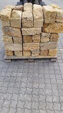 1 Palette Mauersteine aus Sandstein Naturstein 18x18x38cm teilweise gebrochen