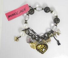 Betsey Johnson Leopard Heart Beaded Half Stretch Bracelet NEW