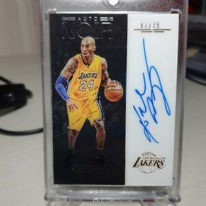 2016-17 Noir Kobe Bryant Auto On Card Acetate /79 !