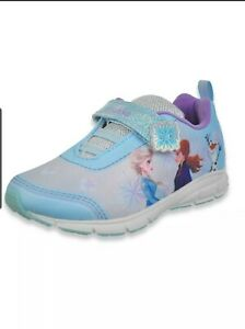 Disney Frozen 2 Anna, Elsa, Olaf Girls' Strap Sneakers Sizes 7